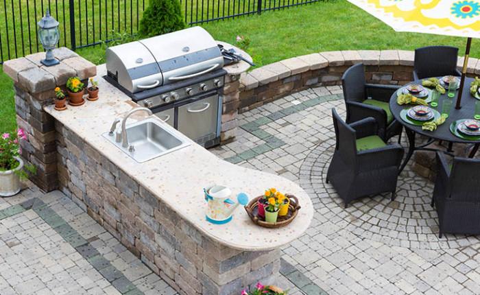 Brick Paver Patio Ideas To Enhance The, Brick And Stone Patio Ideas